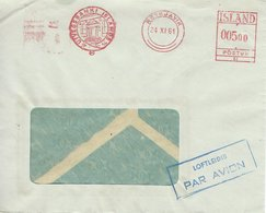 Iceland Airmail Cover Used 1961  H-1390 - 1944-... Republik