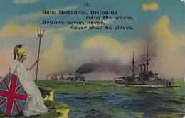 Britannia Rules The Waves - World War One Postcard Circa 1916. - England