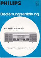 AD039 - Original Bedienungsanleitung Manual Philips Radio Adagio 03RB363, Deutsch - Alte Papiere