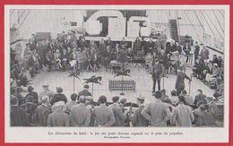 """Paquebot """" île De France """". Les Distractions Du Bord, Jeu De Petits Chevaux Sur Le Pont Du Paquebot. 1931. - Autres"""