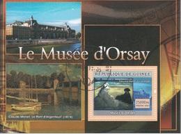 4854 Guinea 2007   Tableau Del Musee D ' Orsay Monet Manet Impressionismo Foglietto Sheet Perf. - Guinea (1958-...)