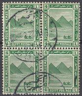 EGITTO - 1922 - Quartina Di Yvert 59, Usati. - Used Stamps