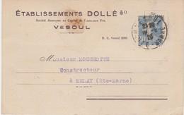 Carte Commerciale 1929 / Ets DOLLE / Machines Agricoles / 70 Vesoul - Maps
