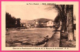 Brassac - Quai De La Fourtonnarié Et Parc Marquis De Saint Vincent - Phototypie TARNAISE - Brassac