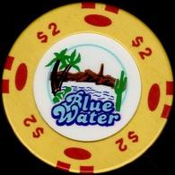 $2 Casino Chip. Blue Water, Parker, AZ. I02. - Casino