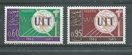 ALGERIE   Yvert  N° 409 Et 410 **  CENTENAIRE DE L'U.I.T. - Algérie (1962-...)