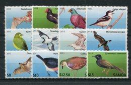 "Samoa - Mi.Nr. 1105 / 1116 - ""Dauerserie Vögel Und Fledermäuse"" ** / MNH (aus Dem Jahr 2013) - Samoa (Staat)"
