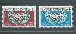 ALGERIE   Yvert  N° 407 Et 408 **  20ème Anniversaire Nations-Unies - Algérie (1962-...)
