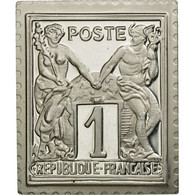 France, Médaille, Timbre, Type Sage, Groupe Allégorique, 1 Centime, 1982, FDC - Francia