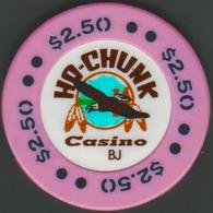 $2.50 Casino Chip. Ho-Chunk, Baraboo, WI. I02. - Casino