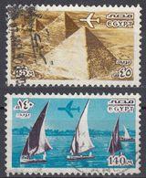 EGITTO - 1978 - Lotto Di 2 Valori Usati: Yvert Posta Aerea 160 E 162. - Posta Aerea