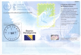 Bosnia Herzegovina International Reply Coupon IRC CN 01 COUPON-RÉPONSE INTERNATIONAL UPU SARAJEVO - Bosnie-Herzegovine