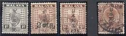 MALAYA, JAPANESE OCCUPATION 1942. 4 Values Ovptd On Negri Sembalan + Pahang. Mint LH And Used - Ocupacion Japonesa