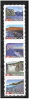 """CANADA 2014, #2723i,  """"P"""" RATE, UNESCO HISTORICAL SITES , Strip Of 5  STAMPS, MNH DIE CUT  From QUATERLY PACK - Carnets"""