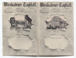 ALLEMAGNE - WIESBADENER TAGBLATT - 2 CARTES - VOIR ZOOM - Wiesbaden