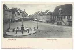 67 Molsheim - Rathhausplatz - Du Temps Des Allemands Voir Imprimeur - Molsheim