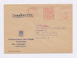 DDR AFS - DRESDEN, FDGB DS -5Pfg- 1966 Auf Firmenbrief - Machine Stamps (ATM)