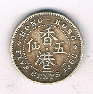 5 CENTS 1963 HONGKONG /7588/ - Hong Kong