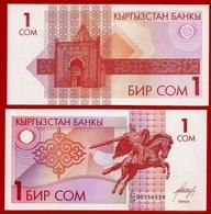 ** KIRGHIZISTAN - 1 Som Mon Daté ( 1993 ) UNC ** - Kirghizistan