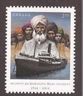 CANADA, 2014,# 2732i, , Komagata Maru 100th Anniversary , INTERNATIONAL RATE (2.50)  Single Die Cut    Mnh - Booklets