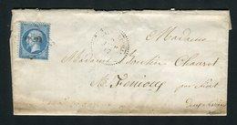 Rare Lettre De Chavagnes En Paillers Pour Fénioux ( 1867 ) - Cachet GC 989 - 1862 Napoleon III