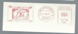 EMA FREISTEMPEL METER Germany Neuss 1977 Algermissen Crocet Merletto Napperon Doily - Textile