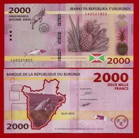 ** BURUNDI - 500 + 2 000  Francs 15-01-2015 UNC ** - Burundi