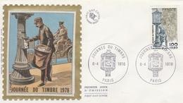 PARIS - FDC 1978   Journée Du Timbre  FACTEUR  Sur YT 2004 - FDC