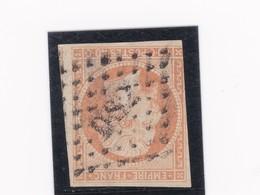 """N° 16   OBLITERATION DE PARIS Bureau """" DS2  Lettres Romaines """" Rue De Clery  - REF 24-24 - 1853-1860 Napoléon III"""