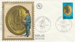 PARIS - FDC 1975   Journée Du Timbre  PLAQUE De FACTEUR  Sur YT 1838 - FDC