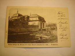 CPA - SAINT GHISLAIN ( MONS BORINAGE ) - ANCIENNE ABBAYE DES MOINES ET VIEUX RENARD COMBATTANT DE 1830 ( 1901 ) - Saint-Ghislain