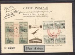 Vi  002  -  France :  Poste Aerienne Lyon 1931 Avec 2 Millésimes - Philatelic Fairs
