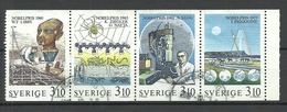 SCHWEDEN Sweden 1988 Michel 1516 - 1519 Nobelpreis Chemie Nobel Prize Chemistry O - Premio Nobel