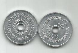 Hungary 2 Filler 1963. UNC - Hungary