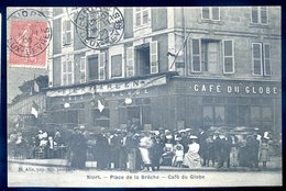 Cpa Du 79  Niort  -- Place De La Brêche - Café Du Globe    YN13 - Niort