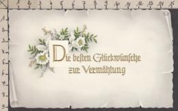 96816GF/ MARIAGE, Vermählung, Orchidées, Gaufrée - Auguri - Feste