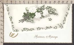 96829GF/ MARIAGE, Roses, Gaufrée - Auguri - Feste