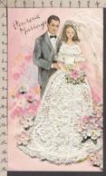 96846GF/ MARIAGE, Couple De Jeune Mariés, Gaufrée - Fêtes - Voeux