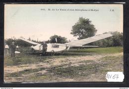 1513 AV67 AK PC CPA M DE LA VAUX ET SON AEROPLANE A ST CYR NC TTB - ....-1914: Precursori