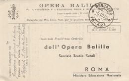 Gesualdo. 1935. Annullo Frazionario (6 - 42) , Cartolina OPERA BALILLA. - 1900-44 Vittorio Emanuele III