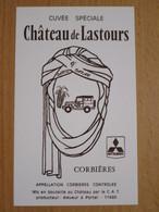 ETIQUETTE DE VIN CORBIERES CHATEAU DE LASTOURS CUVEE SPECIALE PARIS DAKAR 9° - Languedoc-Roussillon