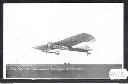 1515 AV69 AK PC CPA LES SPORTS AEROPLANE MONOPLAN ANTOINETTE VI NC TTB - ....-1914: Precursori