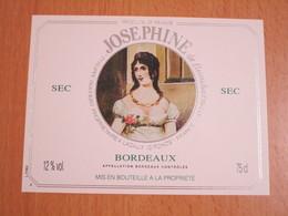 ETIQUETTE DE VIN BORDEAUX JOSEPHINE DE BEAUHARNAIS - Bordeaux
