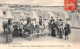 ROYAN - Grande Conche - Départ D'enfants Pour La Promenade à Dos D'ânes - Très Bon état - Royan