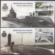 TERRITOIRES BRITANNIQUES DE L'OCEAN INDIEN - Centenaire Des Sous-marins Dans La Royal Navy  FDC - Territoire Britannique De L'Océan Indien