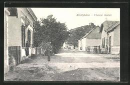 AK Királyháza, Föutcai Részlet, Strassenpartie - Ukraine