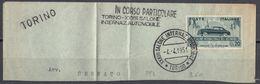 ITALIA - 1951 -  Yvert 593, Obliterato Con Timbri Commemorativi, Su Frammento Di Busta. - 6. 1946-.. Repubblica
