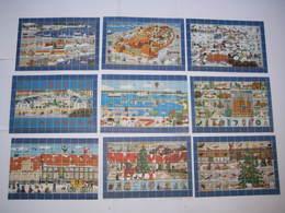 Denmark. 9 Christmas Full Sheet Mnh. Local Kalundborg 1986-87-88-89-90-91-92-93-94. - Full Sheets & Multiples