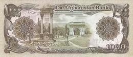 AFGHANISTAN P. 61c 1000 A 1991 UNC (2 Billets) - Afghanistan