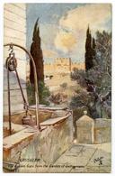 ARTIST : FULLEYLOVE - JERUSALEM - THE GOLDEN GATE FROM THE GARDEN OF GETHSEMANE (TUCK'S OILETTE) - Other Illustrators